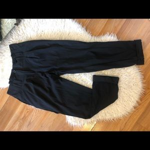 High waisted silk Trousers